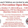 Fire Prevention Open House, Oct. 17
