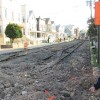 Final Pieces of Trolley Tracks Removed *Photos by R.J. Kawka