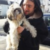 Rocky with owner Nicholas