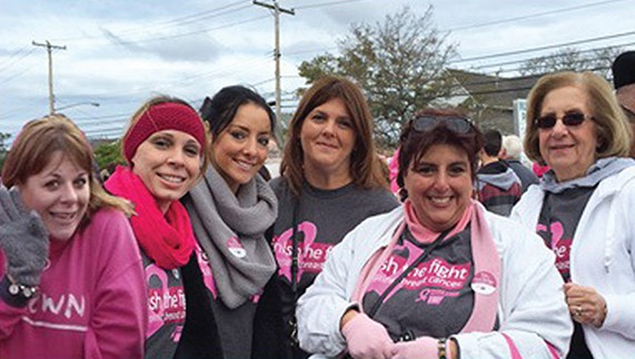 Team Amboy walked the 5K event and collected donations. Employees (L to R): Dana Forcarino, Deirdre Messina, Sylvia Rapoport, Debbie Dembowski, Theresa Geraci and Peggy Dembowski