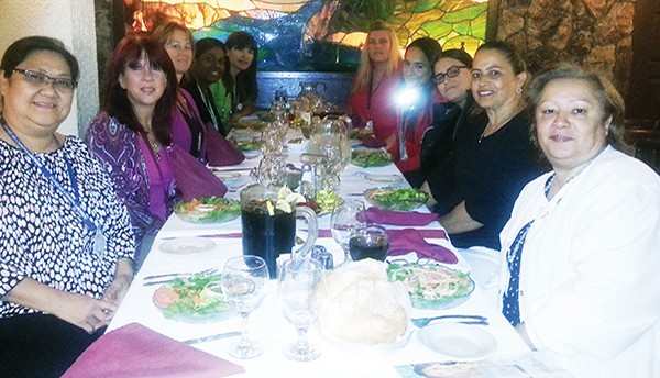 Nurses from Aristicare at Alemeda celebrate at the Portuguese Manor *Photos by Carolyn Maxwell