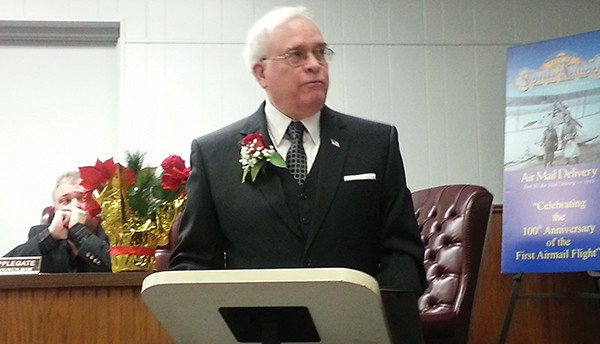 Mayor Fred Henry delivers his speech at the 1/5/15 Reorganization Meeting    *Photo by Carolyn Maxwell