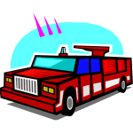 Fire truck. Illustration by the Amboy Guardian.