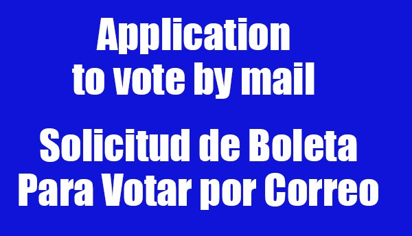 Application to vote by mail