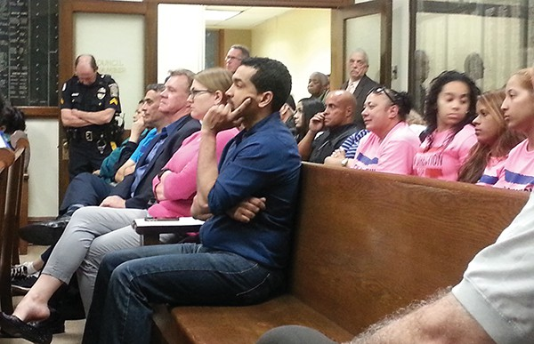 Some City Employees, Residents and Some Supporters of                                         Fernando Gonzalez  attend the 5/13/15 Council Meeting *Photos by Carolyn Maxwell