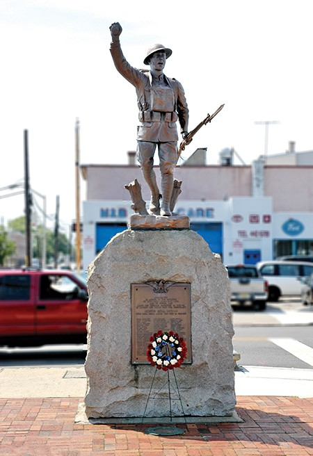 PERTH AMBOY - Arneson Square is dedicated to Robert Arneson F1c USN, USS Helena who died of his wounds received at the bombing of Pearl Harbor. *Photo by Paul W. Wang