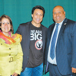 Mayor Wilda Diaz, Marc Mero and Dept. of Recreation Director Kenny Ortiz