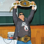 Marc Mero shows of his Wrestling Championship Belt