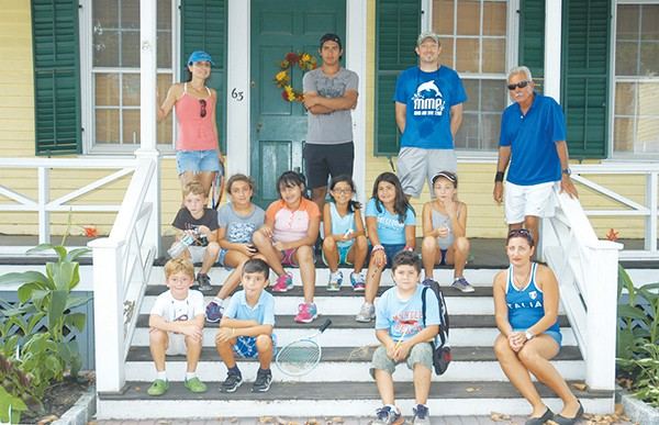 Tennis Class takes a short break to visit the Kearny Cottage and learn a little about Perth Amboy History