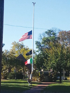 Flag at Half Staff for Artist Tom Ward *Photo by Carolyn Maxwell