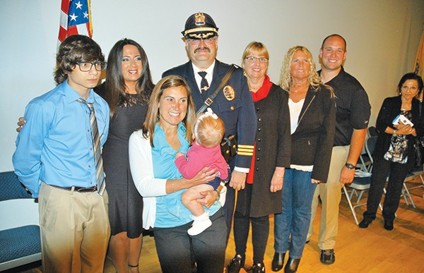 The newly sworn in Deputy Chief Larry Cattano with his family *Photos by Katherine Massopust