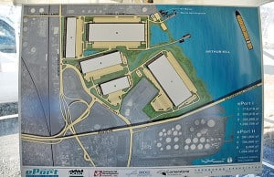 Artist's rendering of the plans for the new Logistics Center