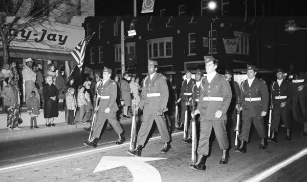 PERTH AMBOY - Veterans march down Smith Street 1950's. Other two photos are close-ups to allow easier facial recognition. *Photo Courtesy of Perth Amboy Free Public Library This Photo was restored under a grant for the Kearny Cottage Archiving project by the Middlesex Cultural and Heritage Commission