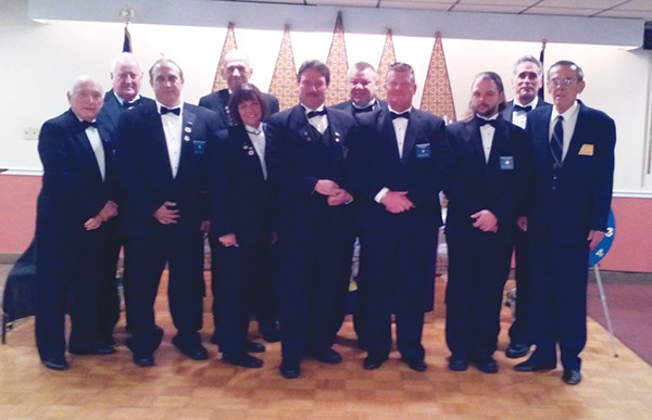 The officers of South Amboy Elks 784, which held their annual Memorial Service on December 6, 2015, for their departed members.