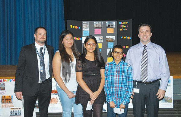 PERTH AMBOY - At the 1/7/16 BOE Meeting Teachers Mr. Michael Heidelberg and Mr. Jorge Nogueira of Shull Middle School supervised students who gave a presentation on a project on how Ancient Roman Architecture influenced the Architecture in Perth Amboy.