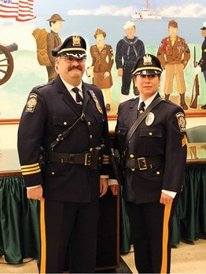 (R) Deputy Chief Larry Cattano with Rivera *Photos submitted by the City of Perth Amboy