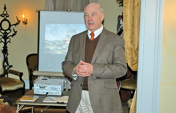 Local Author Don Peck gave a lecture at the Kearny Cottage.