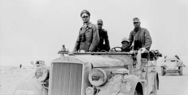 Nazi General Erwin Rommel launched an offensive in Libya in 1941. He is seen here in 1943. commons.wikimedia.org