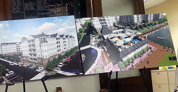 Artist Rendering of Proposed Sea Gate Apartment Complex. * Photo by Carolyn Maxwell
