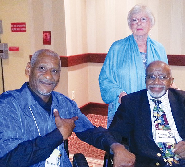 David Tyrone Nelson with Cherrill Garoniak and on of his teachers, Austin Gumbs at Tyrone's 50th Class Reunion (PAHS Class of 1964) (Photo taken: 7/12/14) *Photos by Carolyn Maxwell