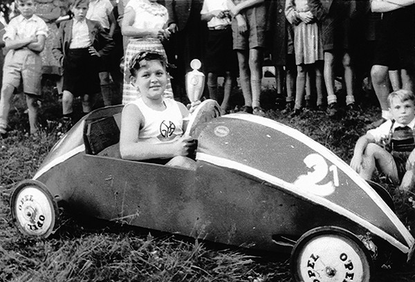 PERTH AMBOY - Soapbox race winner. Circa 1950's *Photo Courtesy of Perth Amboy Free Public Library This Photo was restored under a grant for the Kearny Cottage Archiving project by the Middlesex Cultural and Heritage Commission