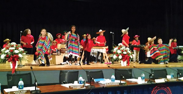 Students from Shull and McGinnis School perform in Mariachi themed music for Kids-in-Concert They opened the show and won..