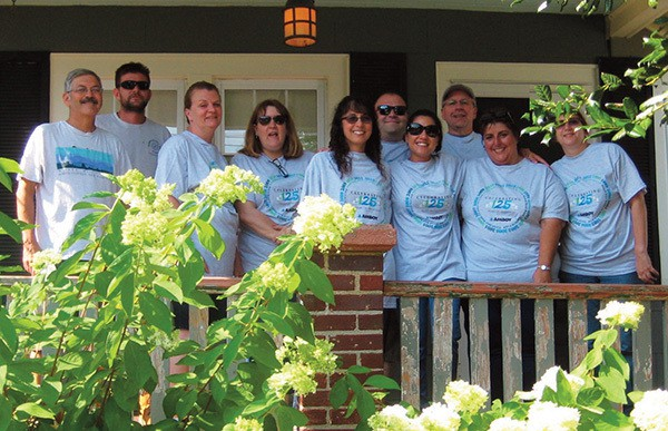 News Release SOUTH AMBOY - As part of the Coastal Habitat for Humanity project, Amboy Bank employees helped restore a Neptune City home. Pictured from left to right: Habitat regular volunteers John and Ed followed by Amboy employees: Annelie Kulcsar, Cheryl Bonczek, Gloria Dumm, Joseph Indiviglio, Lisa Lewis, Stanley Koreyva, Theresa Geraci, and June Godenich. Amboy Employees spent the day at the painting the exterior of the home. Amboy Bank has 22 offices in Middlesex and Monmouth Counties.