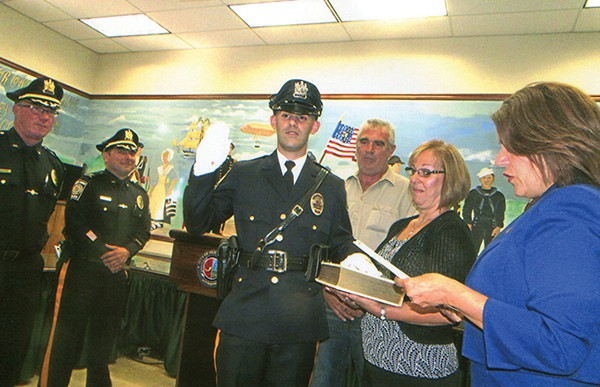 PERTH AMBOY - On Monday, Sept. 12, 2016 there was a swearing-in ceremony for Thomas Fazio, for the office of Police Officer