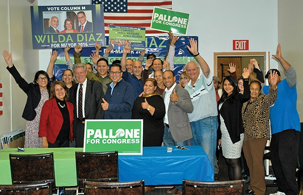 Diaz supporters at the Stronger Together Team