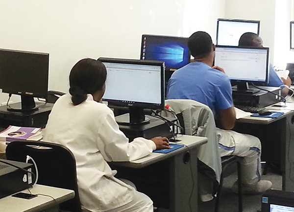 One of the computer rooms in which students utilize to learn at UTI