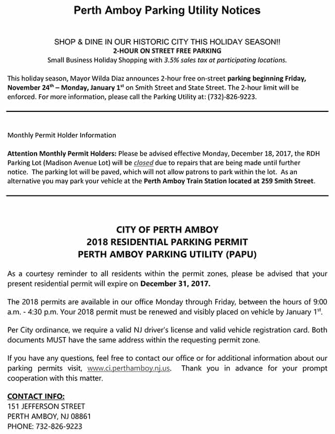 Perth amboy parking utility notice the amboy guardian click to enlarge reheart Image collections